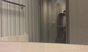 Hotel Shower dope-fiend broads asian teen pitch-black dope-fiend nice bj blowjob handjob