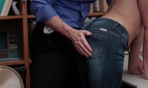Petite Blonde Teen Hold-up man Zoey Clark Fucked By Her Best Friends Security Officer Dad