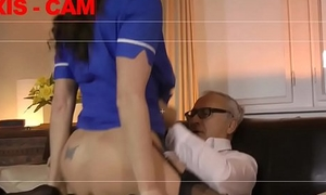 Teen watch over drilled by senior in threesome