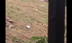 Indian teen beau fingering her gf in park