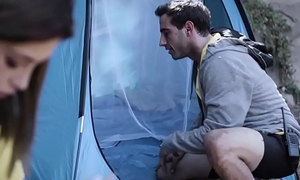 Teen premier on boyfriend on camping trip