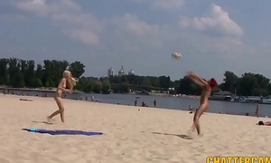 Sweet Legal age teenager Nudists Seashore Playtime