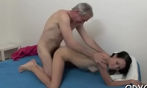 Old boy acquires his dick moist