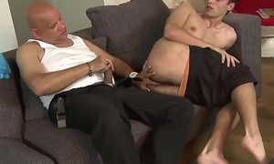Euro stud sucks on oldmans huge bushwa
