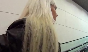 Ravishing czech girl is seduced all over the shopping centre with the addition of plowed all over pov