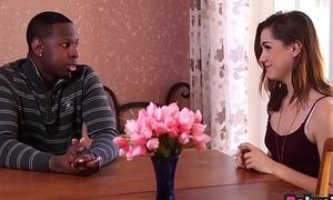 Teen nanny Kasey Ap'ritif nailed deeply by black monster