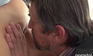 Lovesome schoolgirl receives seduced and poked by her older schoolteacher