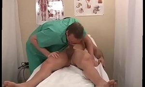 Physicals elated lovemaking video Dr Swallowcock lowered his gullet down to my