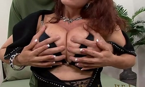 redhead sexually excited mommy Sexy Vanessa loves big youthful cocks