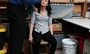 ShopLyfter - Petite Spinner Tied Adjacent to A Chair For Stealing