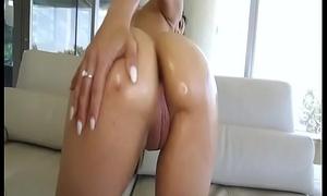 Black Teen Casting Maya Bijou Greasing Her Vagina