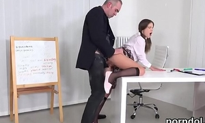 Sweet schoolgirl was seduced coupled with poked by her senior instructor