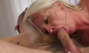 Attractive Granny Blonde Anal Fuck Creampie