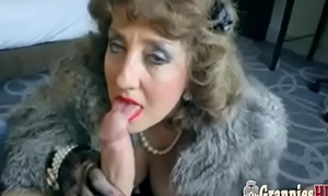 Classy Granny Brunette Loves To Suck Big Juvenile Cock