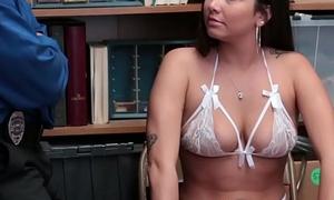 Latina shoplifter sucking