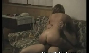 Amateur hidden cam be wild about on couch