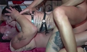 Tatted Girl, Black Teen increased by the shacking up machine!