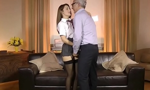 UK schoolgirl doggystyled wits pensioner