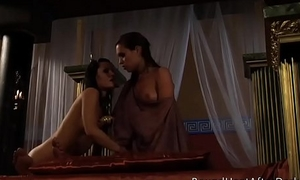 Lesbian Slave'_s Revenge: Mistress And One Slaves With Strap-on And Whip