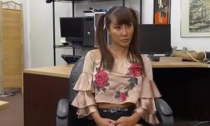 Asian babe Tiffany Rain demands Shawn some cash for a bj