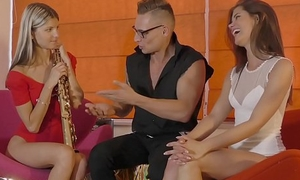 Little Caprice &amp_ Gina Gerson  get fucked from her music teacher