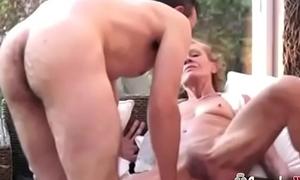 Young Guy Fucks A Skinny Hairy Granny