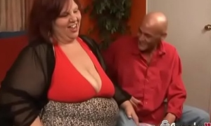 Young Clothes-horse Penetrating Redhead SSBBW GILF With Huge Boobs