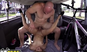 BANGBROS - Young Bicyclist Mila Hendrix Gets Help From The Bang Omnibus Crew