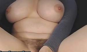 18yo With Stupendous Double D Natural Tits And Hairy Pussy