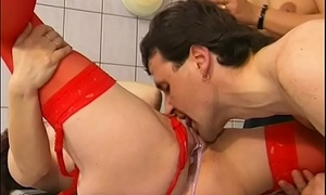 MILFs Plays Kitchen Utensils And A Cock