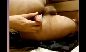 Sexy young and plainly turkish guy definitely loves anal play, then cums in face
