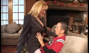 Hawt full-grown blonde jammed wide of a young cock