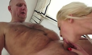 Luring beauty drilled by a horny pensioner