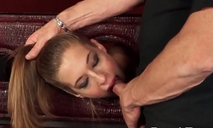 Little Molly Manson Giving Blowjob and Laid Savagely