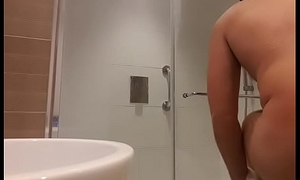 Twink Shower Snoop Cam catches chum finger himself sign in having a shower