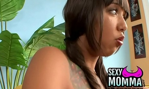 brunette in summary whore seduces her counterfeit dad to a raunchy long fuck