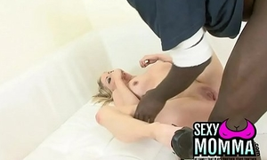 Horny mummy gets her pussy rammed with a huge ebony cock