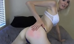 Teen Gets a Spanking and a Hot Cum Facial
