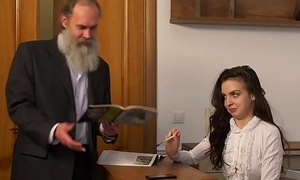 Tricky Old Teacher - Old teacher around her beautiful natural boobs Milana Witchs