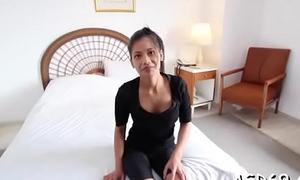 Thai loveliness masturbates and sucks