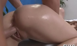 Full erection massage video