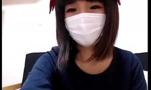 Cute japanese ecumenical undressing in front cam