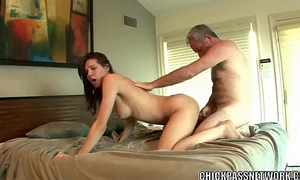 Horny coed Sadie Holmes is taking detect from an old gay blade