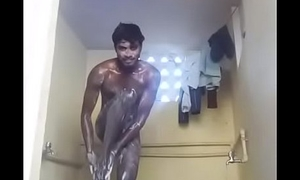 Desi juvenile boy bath